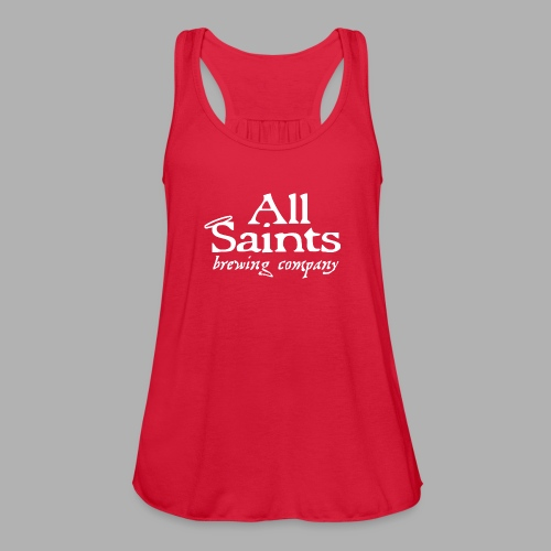 All Saints Logo White - Women's Flowy Tank Top by Bella