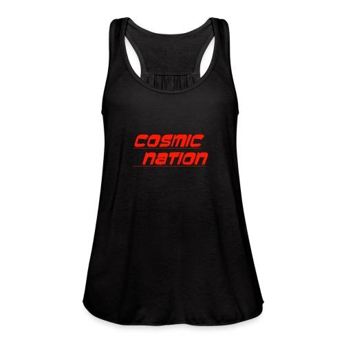 Cosmic Nation Logo - Women's Flowy Tank Top by Bella