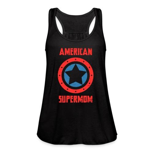 American Supermom - Women's Flowy Tank Top by Bella