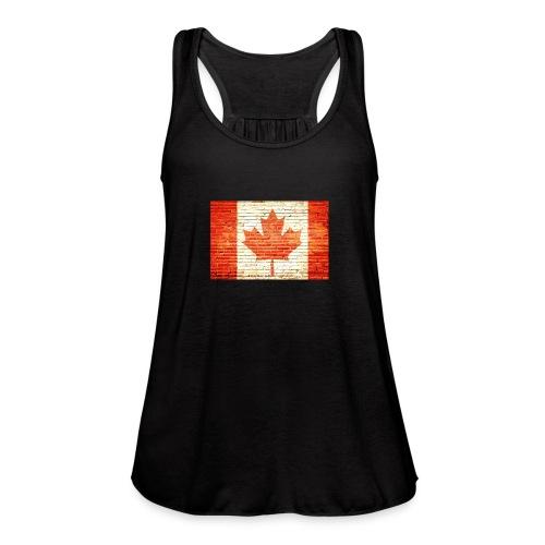 Canada flag - Women's Flowy Tank Top by Bella