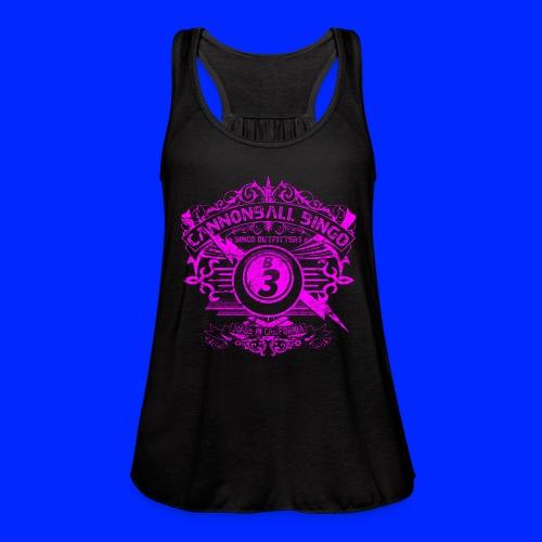 Vintage Cannonball Bingo Crest Pink - Women's Flowy Tank Top by Bella