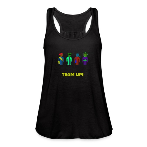 Spaceteam Team Up! - Women's Flowy Tank Top by Bella