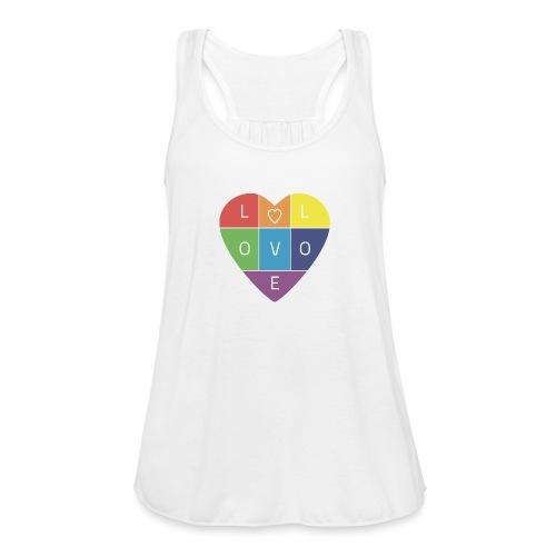 Rainbow Heart - Women's Flowy Tank Top by Bella