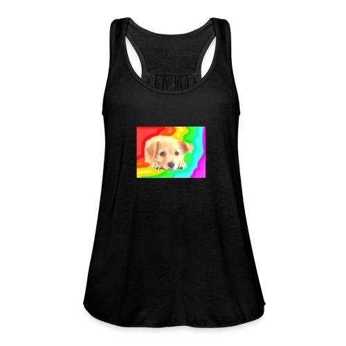 Puppy face - Women's Flowy Tank Top by Bella