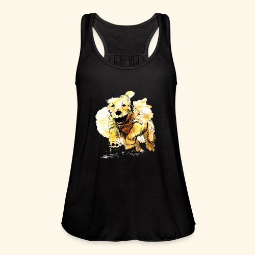 oil dog - Women's Flowy Tank Top by Bella