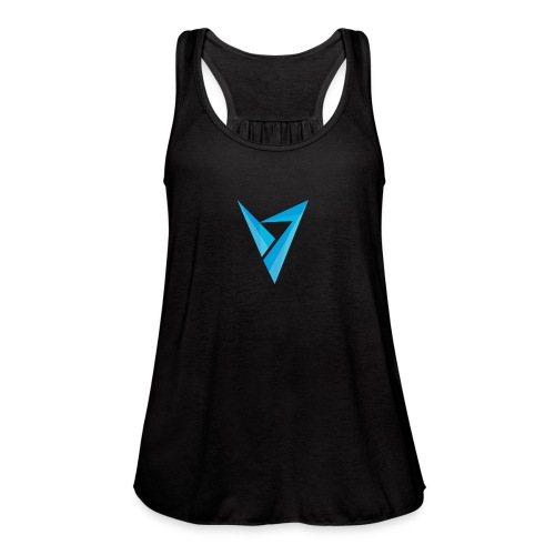 v logo - Women's Flowy Tank Top by Bella