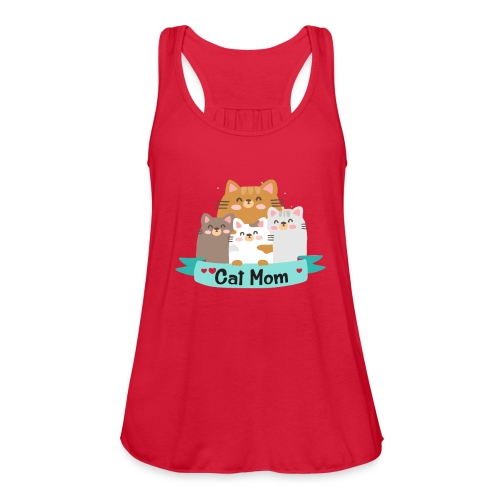 Cat MOM, Cat Mother, Cat Mum, Mother's Day - Women's Flowy Tank Top by Bella