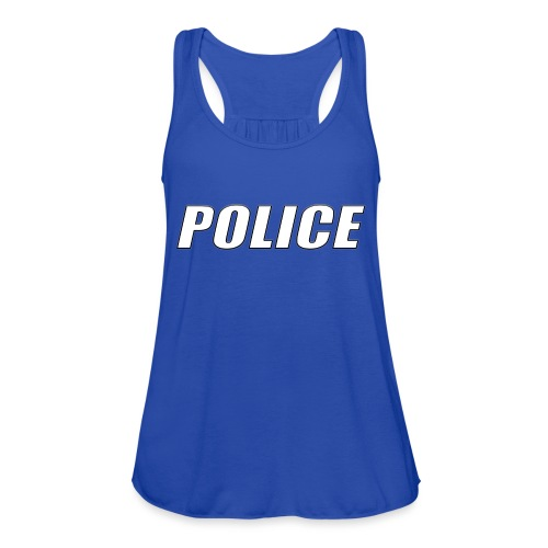 Police White - Women's Flowy Tank Top by Bella