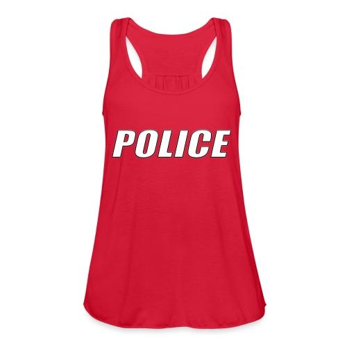 Police White - Women's Flowy Tank Top by Bella