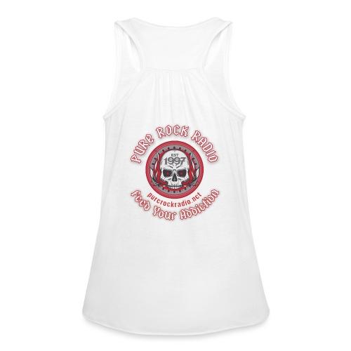 PRR Molenoise Skull (Front) + Circle Logo (Back) - Women's Flowy Tank Top by Bella