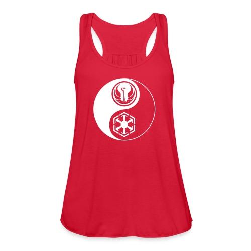 Star Wars SWTOR Yin Yang 1-Color Light - Women's Flowy Tank Top by Bella