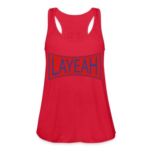 White LaYeah Shirts - Women's Flowy Tank Top by Bella