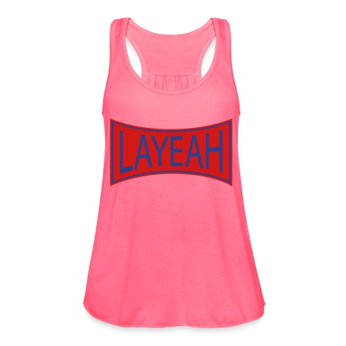 White LaYeah Shirts - Women's Flowy Tank Top by Bella