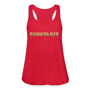 Chocolate Horizontal Font - Women's Flowy Tank Top by Bella