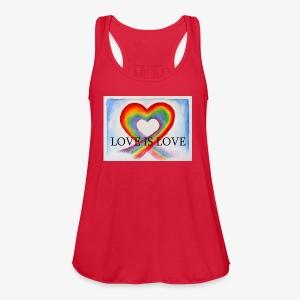 Love Is Love - Women's Flowy Tank Top by Bella