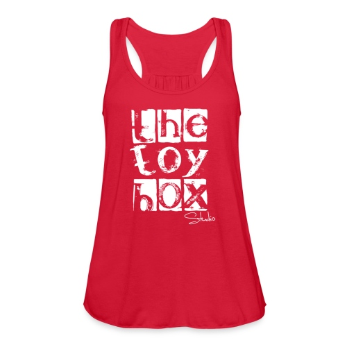 The Toy box Studio - White Logo - Women's Flowy Tank Top by Bella
