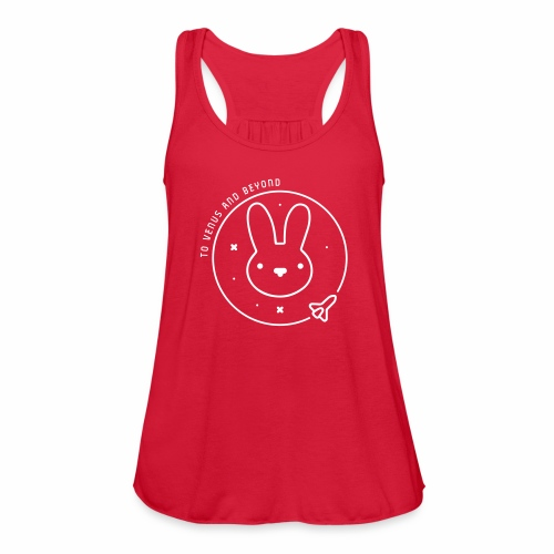 Space Bunny - To Venus And Beyond - Women's Flowy Tank Top by Bella