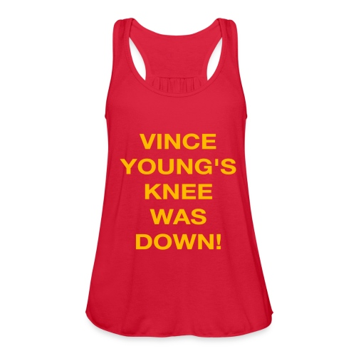 Vince Young's Knee Was Down - Women's Flowy Tank Top by Bella