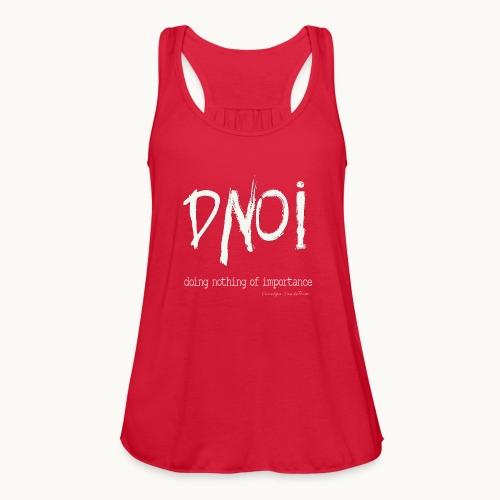 DNOI GRUNGE Carolyn Sandstrom WT TEXT - Women's Flowy Tank Top by Bella