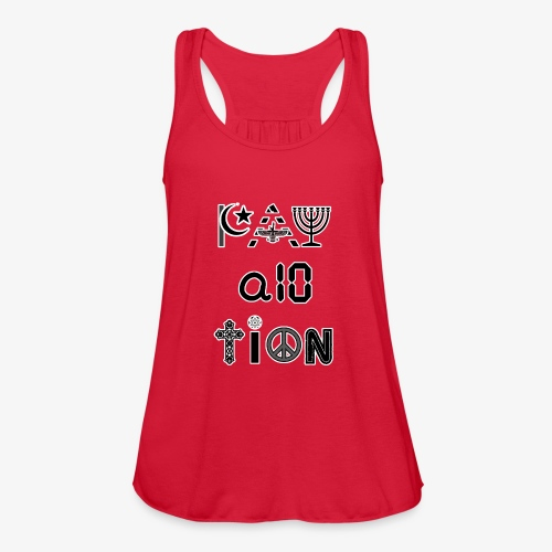 Pay Attention and Coexist - Women's Flowy Tank Top by Bella