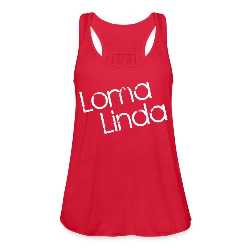 lomalinda white - Women's Flowy Tank Top by Bella