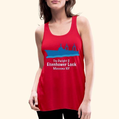 Eisenhower Lock Blue - Women's Flowy Tank Top by Bella