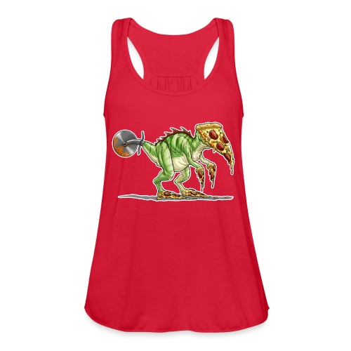 pizzasaurus - Women's Flowy Tank Top by Bella