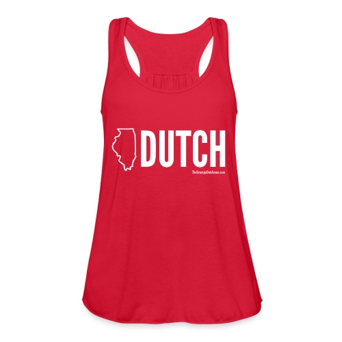 Illinois Dutch (White Text) - Women's Flowy Tank Top by Bella