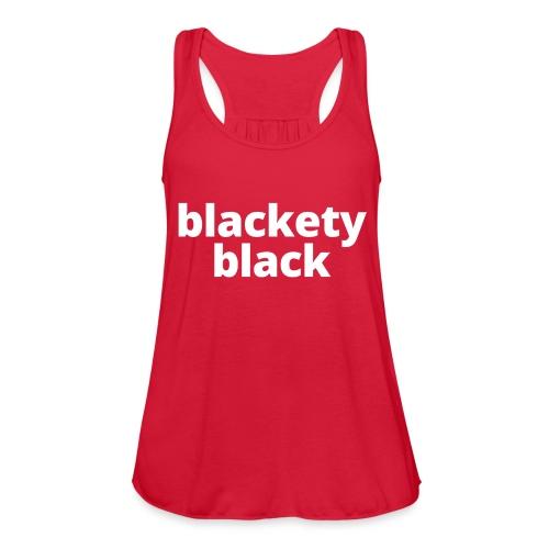 Women's Blackety Black Hoodie - Women's Flowy Tank Top by Bella