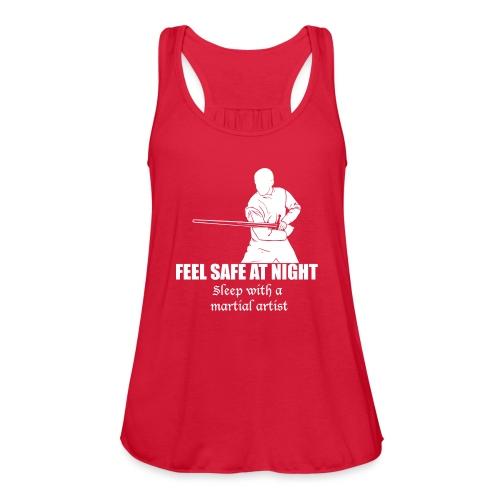 Feel safe male LS - Women's Flowy Tank Top by Bella