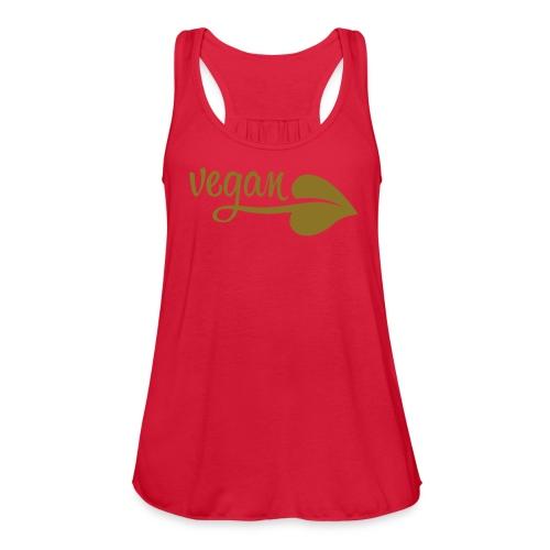Vegan Leaf - Women's Flowy Tank Top by Bella