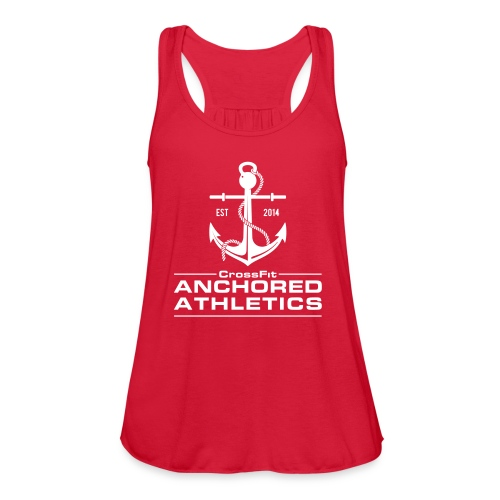 CrossFit Anchored Athletics White Vertical - Women's Flowy Tank Top by Bella