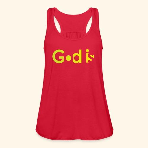 GOD IS #7 - Women's Flowy Tank Top by Bella
