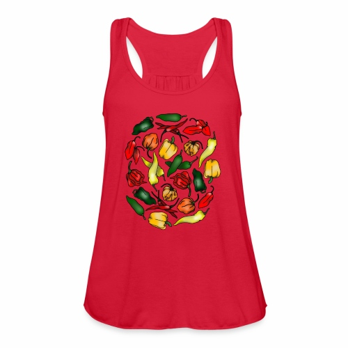 Chili Peppers - Women's Flowy Tank Top by Bella
