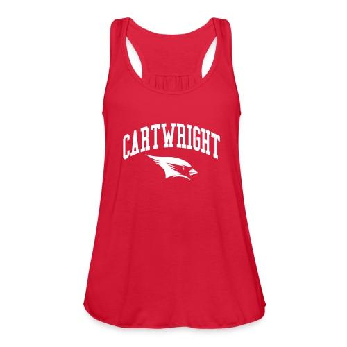 Cartwright College Logo - Women's Flowy Tank Top by Bella