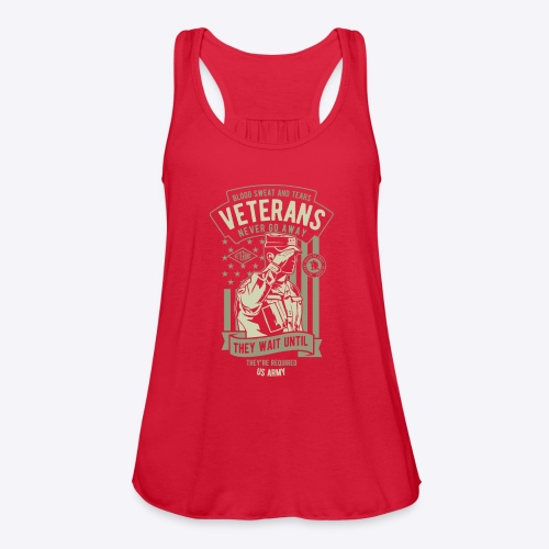 US Army Veterans - Women's Flowy Tank Top by Bella