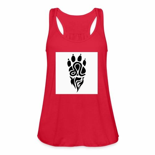 Black Leo Zodiac Sign - Women's Flowy Tank Top by Bella