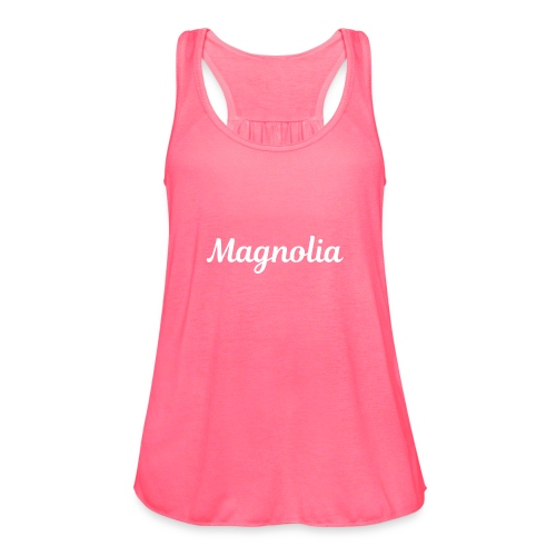 Magnolia Abstract Design. - Women's Flowy Tank Top by Bella