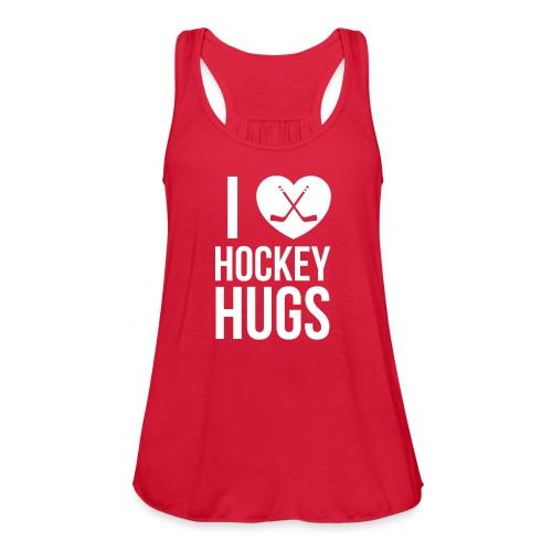 I [Heart] Hockey Hugs - Women's Flowy Tank Top by Bella