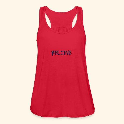Believe - Women's Flowy Tank Top by Bella