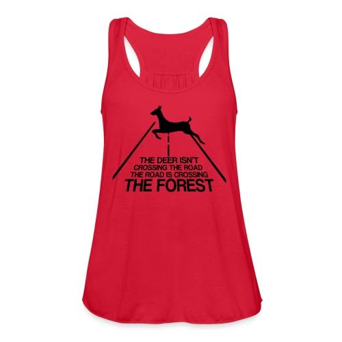 Deer's forest - Women's Flowy Tank Top by Bella