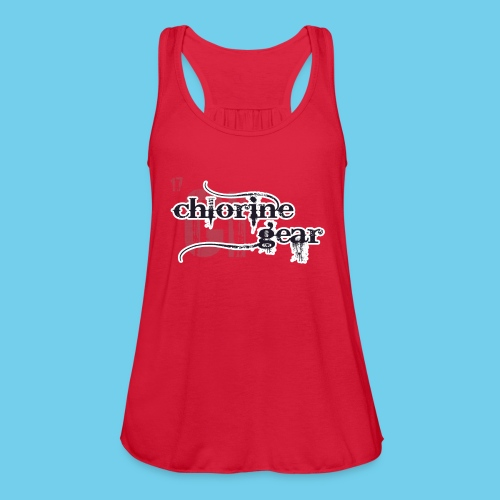 Chlorine Gear Textual stacked Periodic backdrop - Women's Flowy Tank Top by Bella