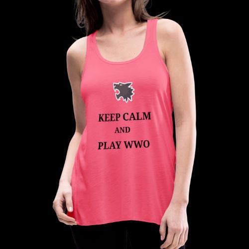 KEEP CALM AND PLAY WEREWOLF - Women's Flowy Tank Top by Bella