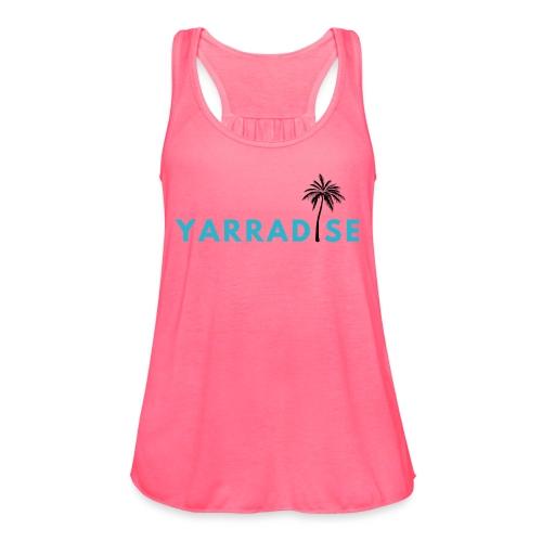 Yarradise Palm: Blue text - Women's Flowy Tank Top by Bella