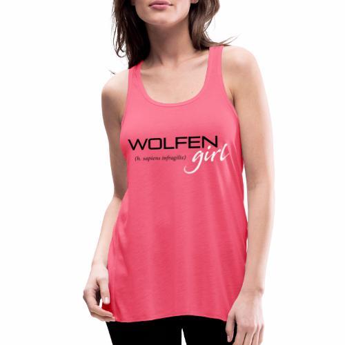 Wolfen Girl on Pink - Women's Flowy Tank Top by Bella