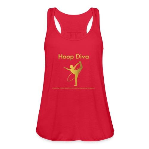 Hoop Diva 2 - Women's Flowy Tank Top by Bella