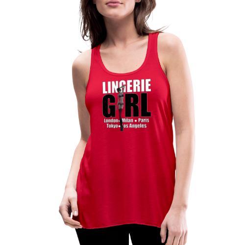 The Fashionable Woman - Lingerie Girl - Women's Flowy Tank Top by Bella