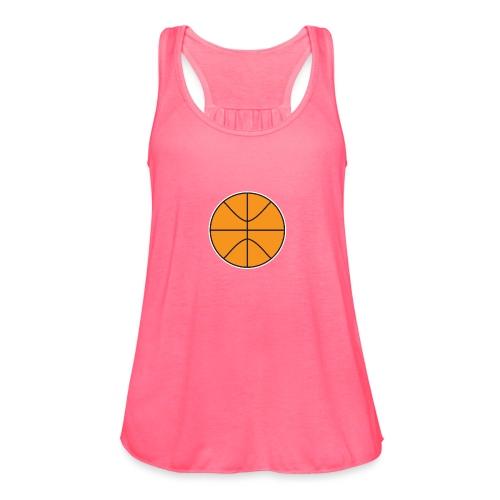 Plain basketball - Women's Flowy Tank Top by Bella