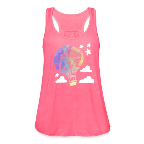 To Travel Is To Live - Women's Flowy Tank Top by Bella
