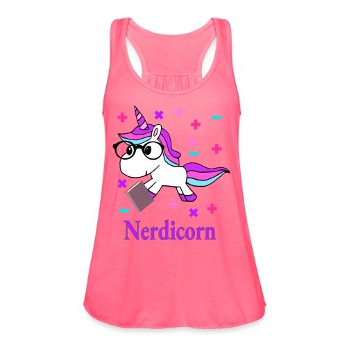 Nerdicorn! - Women's Flowy Tank Top by Bella